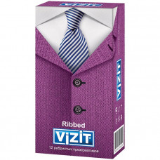Презервативы ребристые VIZIT Ribbed 12 шт.