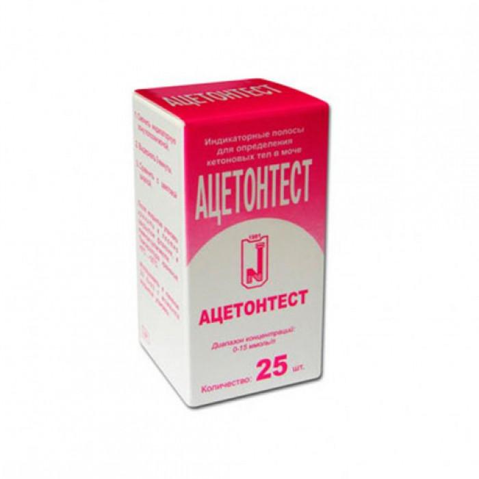 Тест-полоски Ацетонтест (25 шт.)