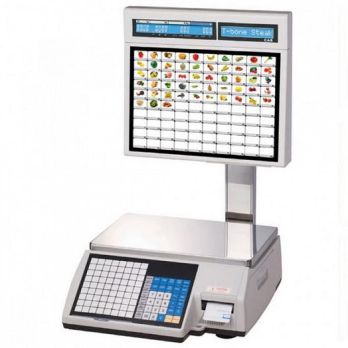Весы торговые с печатью этикеток CAS CL5000J-IS