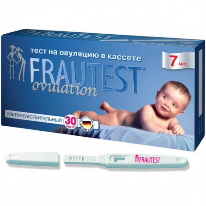 Тест для определение овуляции FRAUTEST в кассете с колпачком