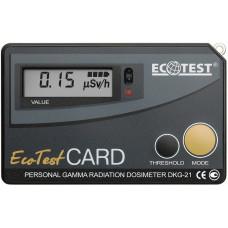 Дозиметр гамма-излучения индивидуальный ДКГ-21 EcotestCARD