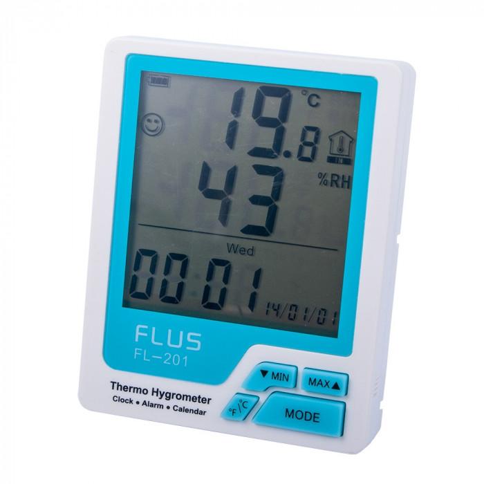 Термогигрометр бытовой Flus FL-201