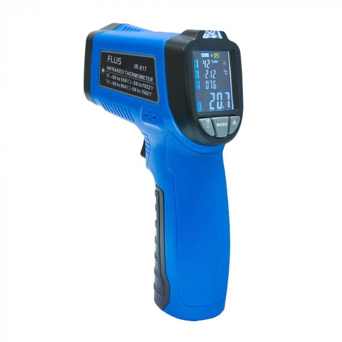 Пирометр - термогигрометр с термопарой Flus IR-817