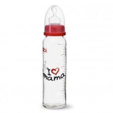 Бутылочка антиколиковая пластиковая Bibi I LOVE MAMA 240 мл.