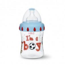 Антиколиковая бутылочка пластиковая I am a boy 250 мл.