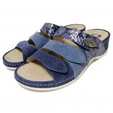 Женские кожаные тапочки VESUVIO BLUE 701-18.2