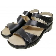 Женские кожаные босоножки NAPPA BLACK 907-19-02