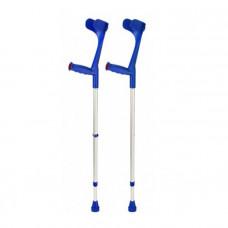 Костыль подлокотный Klassiker 220 DK blue твердая ручка