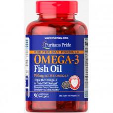 Омега-3 рыбий жир, Omega-3 Fish Oil, Puritan's Pride, 1360 мг (950 мг активного омега-3), 90 капсул