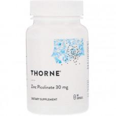 Цинк пиколинат усиленный, Zinc Picolinate, Thorne Research, 30 мг, 60 капсул