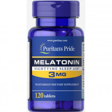 Мелатонин, Melatonin, Puritan's Pride, 3 мг, 120 таблеток