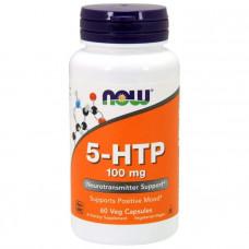 5-HTP, 5-гидрокситриптофан, Now Foods, 100 мг, 60 капсул