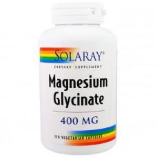 Магний глицинат, Magnesium Glycinate, Solaray, 400 мг, 120 капсул